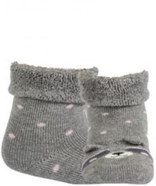 WOLA Ponožky dojčenské froté s uškami dievča Ash 12-14