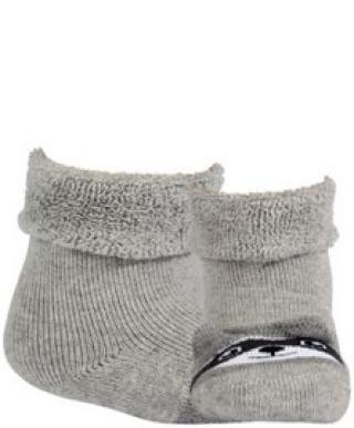 WOLA Ponožky dojčenské froté s uškami neutrál Aluminium 12-14