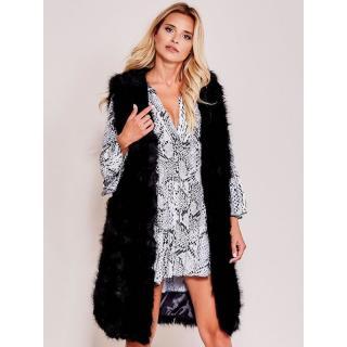 Women´s black faux fur vest dámské Neurčeno S