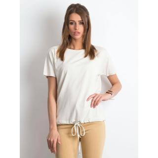 Women´s cotton t-shirt, light beige dámské Neurčeno S
