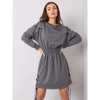 Women´s dark gray cotton dress dámské Neurčeno S