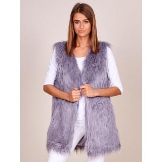 Women´s gray vest with longer hair dámské Neurčeno XXL