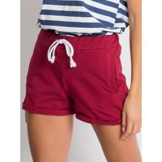 Women´s maroon cotton shorts Neurčeno S