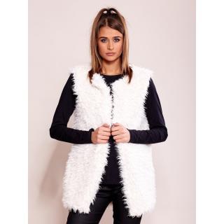Women´s vest made of ecru fur dámské Neurčeno L
