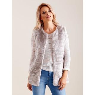 Women´s vest made of faux fur, light gray dámské Neurčeno XXL