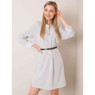 Women´s white dress with stripes dámské Neurčeno One size