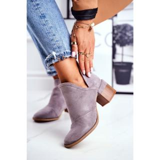 Women's Boots On High Hee Trimmed Grey Mini Meliori dámské Other 37