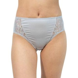 Women's panties Gina gray with lace  dámské Neurčeno S