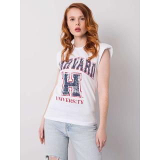 Women's white cotton t-shirt dámské Neurčeno M