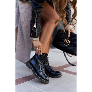 Womens Boots Lacquered Black Kolbie dámské Other 39
