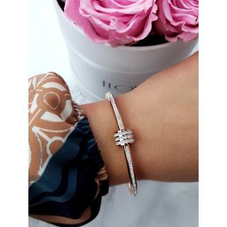 Womens Bracelet Steel With Zircons Pink Gold Ferni dámské Neurčeno UNIVERZÁLNÍ