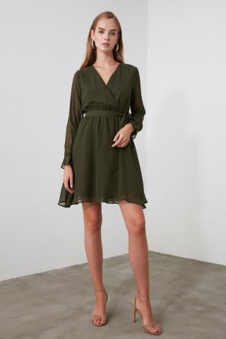 Womens dress Trendyol Belt detailed dámské Khaki 36