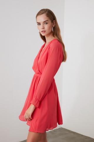 Womens dress Trendyol Belt detailed dámské Red 38