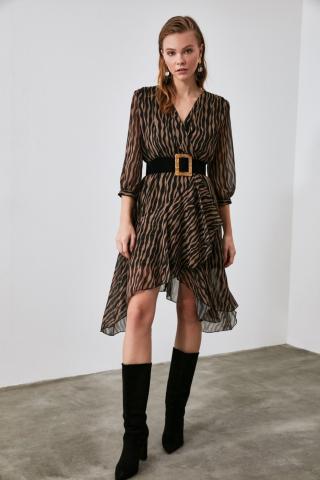 Womens dress  Trendyol Patterned dámské Camel 36