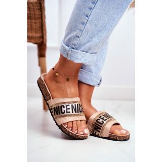 Womens Flip-flops Beige Zircons BeNice dámské Neurčeno 36