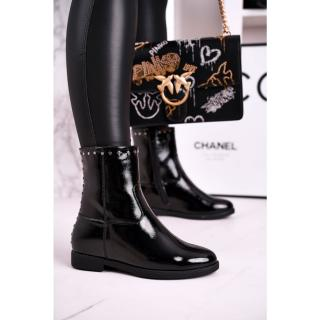 Womens Insulated Boots On A Wedge Patent Black Performance dámské Other 41