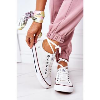 Womens Leather Sneakers BIG STAR II274001 White dámské Other 38