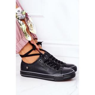 Womens Leather Sneakers BIG STAR II274002 Black dámské Other 38