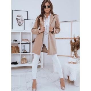 Womens single-breasted coat STREET LIKE beige Dstreet NY0442 dámské Neurčeno S