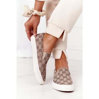 Womens Slip-On Sneakers Khaki Challenge dámské Other 38