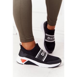 Womens Slip-On Sneakers Memory Foam Big Star HH274536 Black dámské Other 38