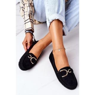Womens Suede Loafers Black Downtown dámské Other 38