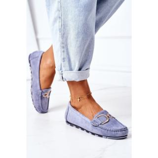 Womens Suede Loafers Blue Downtown dámské Other 38