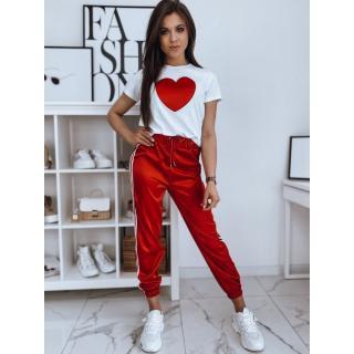 Womens sweat suit HEART red Dstreet AY0576 dámské Neurčeno S