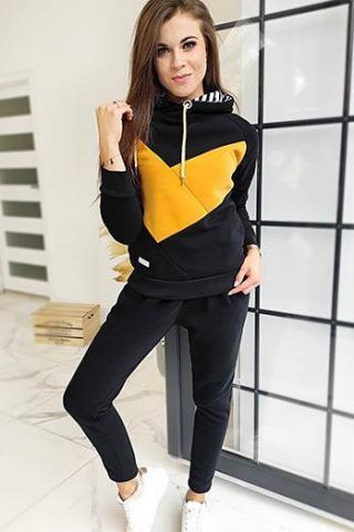 Womens sweat suit MEGUSTA black AY0371 dámské Neurčeno XXL