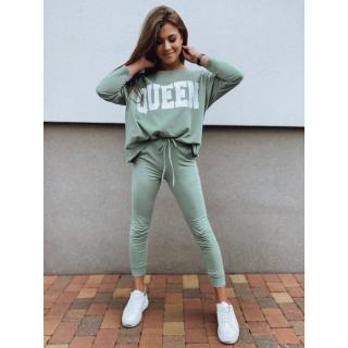 Womens sweatshirt set QUEEN mint AY0167z dámské Other One size