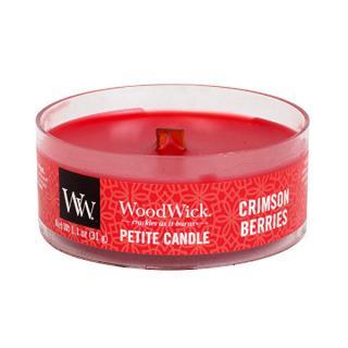 WoodWick Aromatická malá sviečka s dreveným knôtom Crimson Berries 31 g