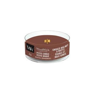 WoodWick Aromatická malá sviečka s dreveným knôtom Smoked Walnut & Maple 31 g