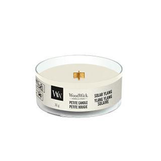 WoodWick Aromatická malá sviečka s dreveným knôtom Solar Ylang 31 g