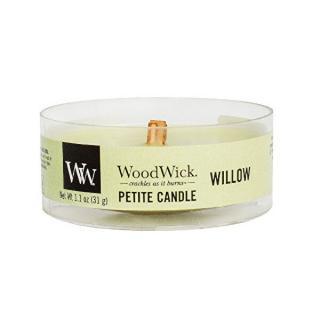 WoodWick Aromatická malá sviečka s dreveným knôtom Willow 31 g