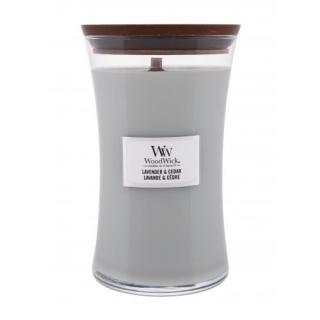WoodWick Lavender & Cedar 610 g vonná sviečka unisex 610 g