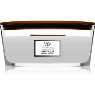 Woodwick Lavender & Cedar vonná sviečka s dreveným knotom  453,6 g 453,6 g