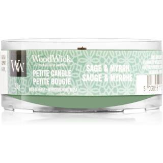 Woodwick Sage & Myrrh votívna sviečka s dreveným knotom 31 g 31 g
