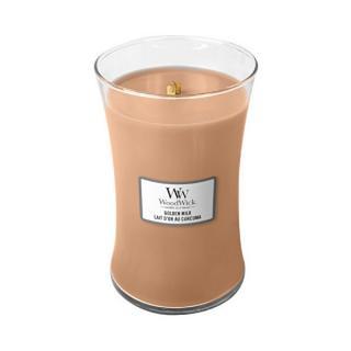 WoodWick Vonná sviečka váza Golden Milk 609,5 g
