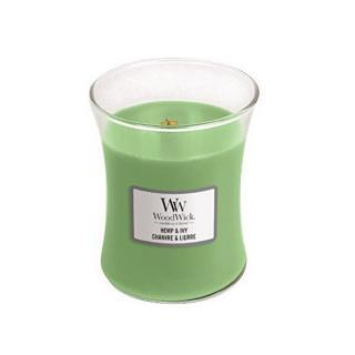 WoodWick Vonná sviečka váza Hemp & Ivy 275 g