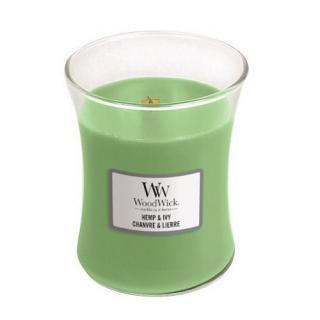 WoodWick Vonná sviečka váza Hemp & Ivy 275 g - ZĽAVA