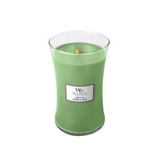 WoodWick Vonná sviečka váza Hemp & Ivy 609,5 g