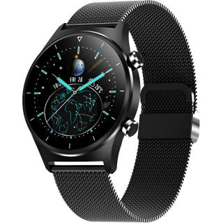 Wotchi Smartwatch W44BST - Black Stainless - SLEVA čierna
