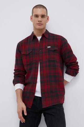 Wrangler - Bavlnená košeľa pánské červená S