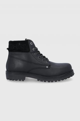 Wrangler - Kožené členkové topánky pánské čierna 40