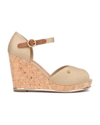 Wrangler Panama Raval Klinová obuv Hnedá Béžová dámské 41
