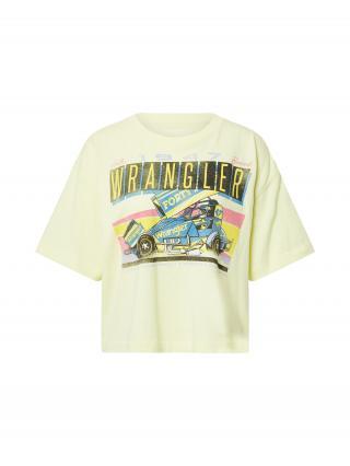 WRANGLER Tričko BOXY  pastelovo žltá / žltá / čierna / dymovo modrá dámské XS