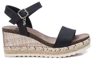 XTi Dámske sandále Black Nobuko Pu Ladies Sandals 34242 Black 37 dámské