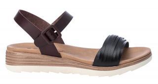 XTi Dámske sandále Black Pu Ladies Sandals 49846 Black 38 dámské