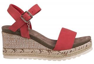 XTi Dámske sandále Red Nobuko Pu Ladies Sandals 34242 Red 39 dámské