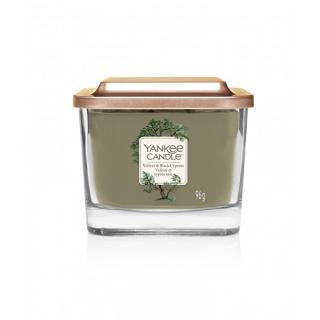 Yankee Candle Aromatická sviečka malá hranatá Vetiver & Black Cypress 96 g -ZĽAVA - chýba etiketa